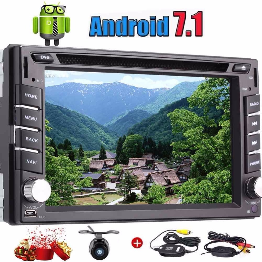 Eincar wireless camera included! Android 7.1 2 Din Car Steres