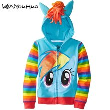My Baby Girls Jackets Coats Spring Autumn Jacket For Girls Coat Little Kids Cartoon Pony Hooded Outerwear Coat Children Clothes(China)