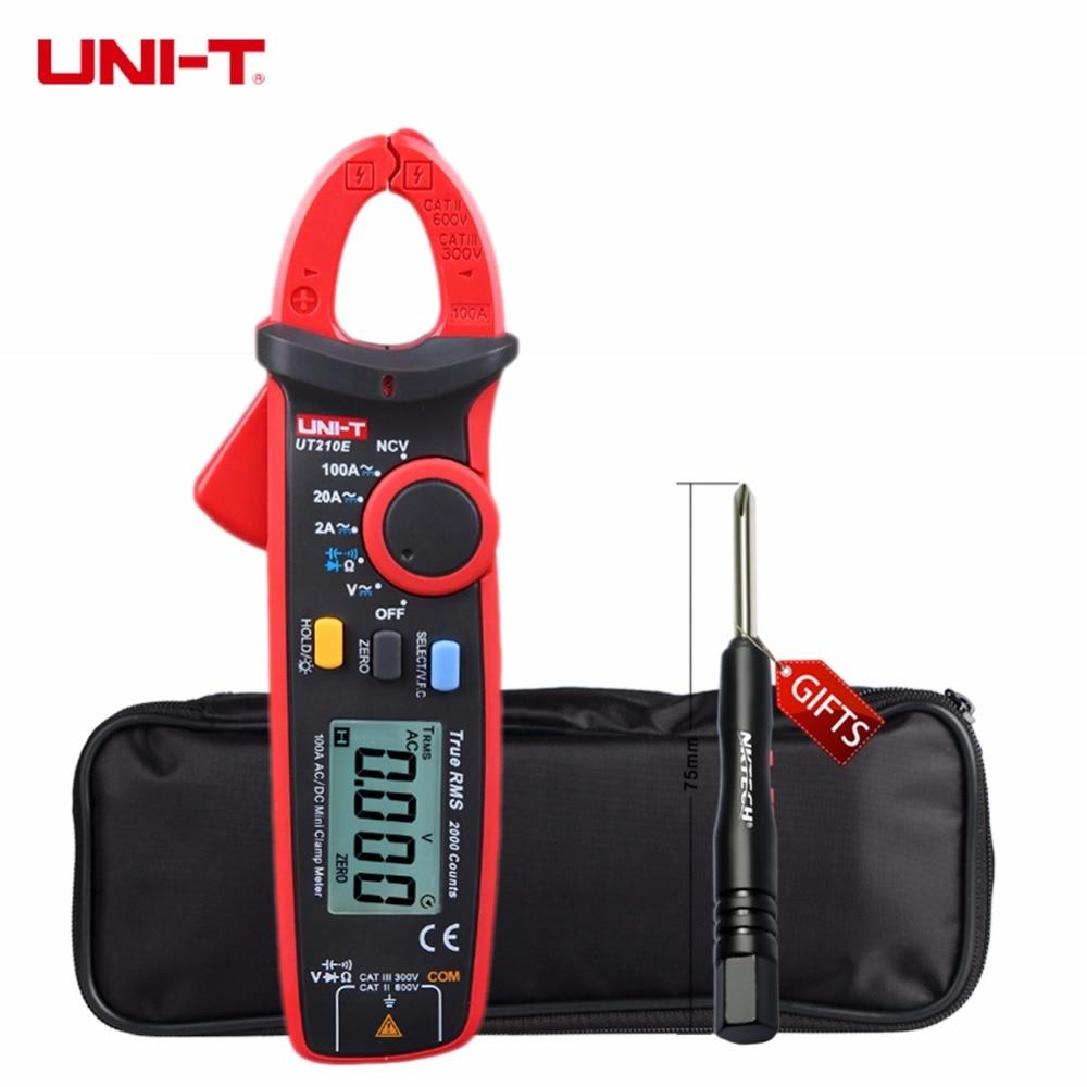 UNI-T UT210E True RMS AC/DC Current Mini Clamp Meters w/ Capacitance Tester Digital Multimeter Megohmmeter