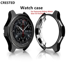 CRESTED Galaxy watch 46mm case cover For Samsung Gear S3 Frontier S 3 smart watch Protect shell electroplated Protective case 46