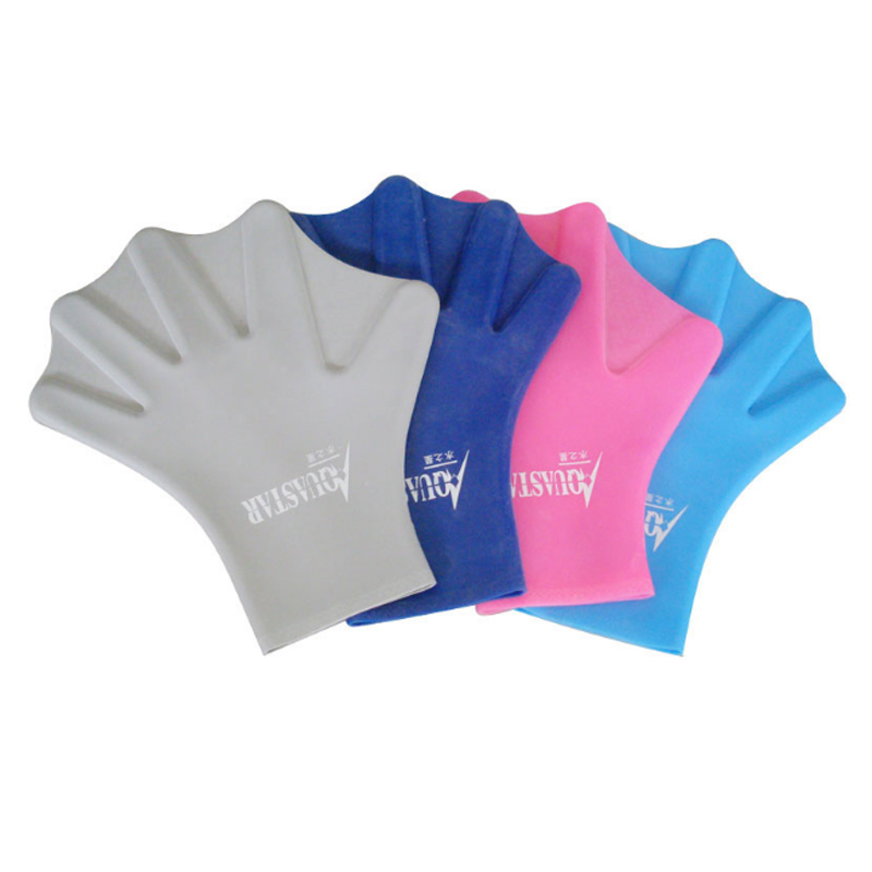 100% Silicone Full Finger Diving Webbed Gloves Swim Trainer Hand Paddles Flippers Wholesale Hot Sale