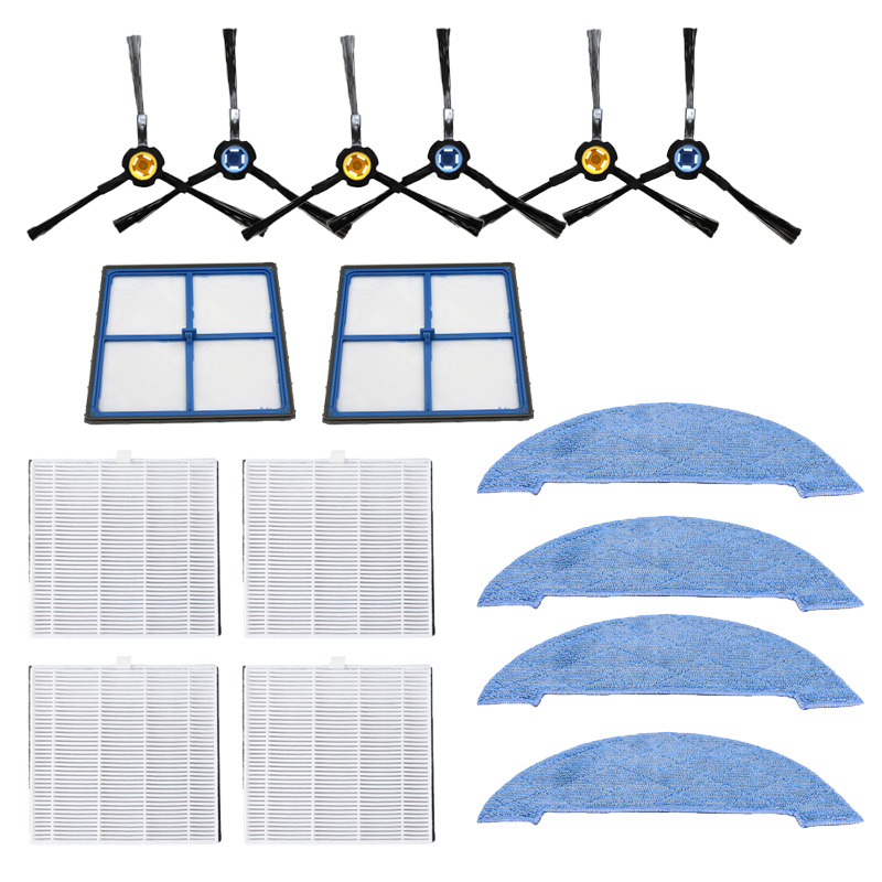 Hepa Filter Side Brush Mop Pad Primary Filter Replacement Kits For Ilife V8 V8s X750 X800 X785 V80 Vacuum Cleaner Part