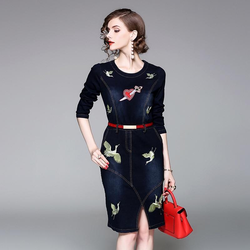 Top quality font b women b font autumn font b dress b font 2017 new brand