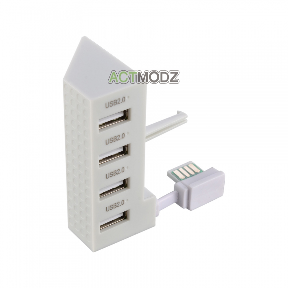 High Speed 4 Ports Expansion USB 2.0 Hub Adapter Splitter for Xbox One Slim / S
