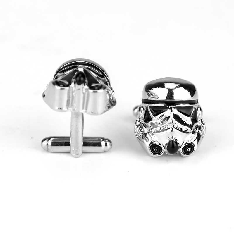 Dongsheng модные запонки Звездные войны Галактическая Империя Императорский Штурмовик эмалированная маска Мужская рубашка металлическая Серебряная запонка-40