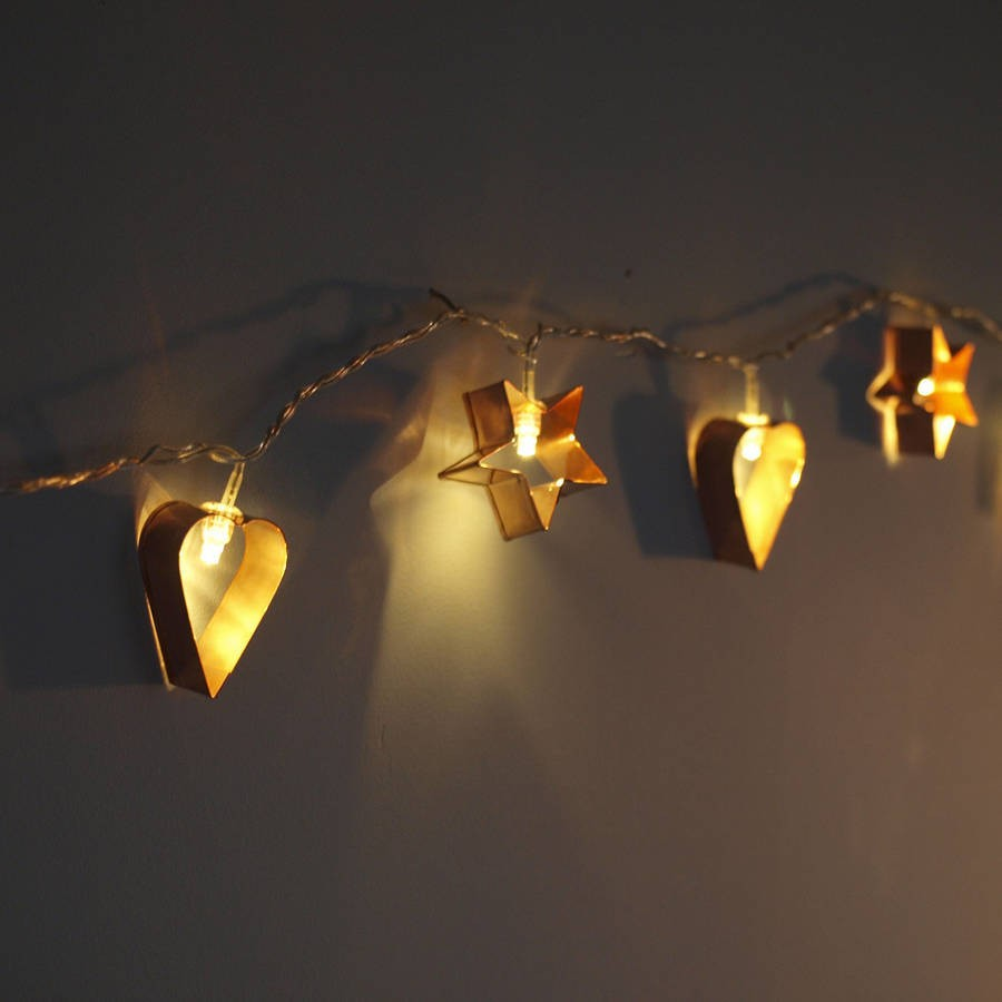 String Lights For House : 20 LED Cookie Cutter star and heart battery String christmas Lights 2M holiday party house club ...