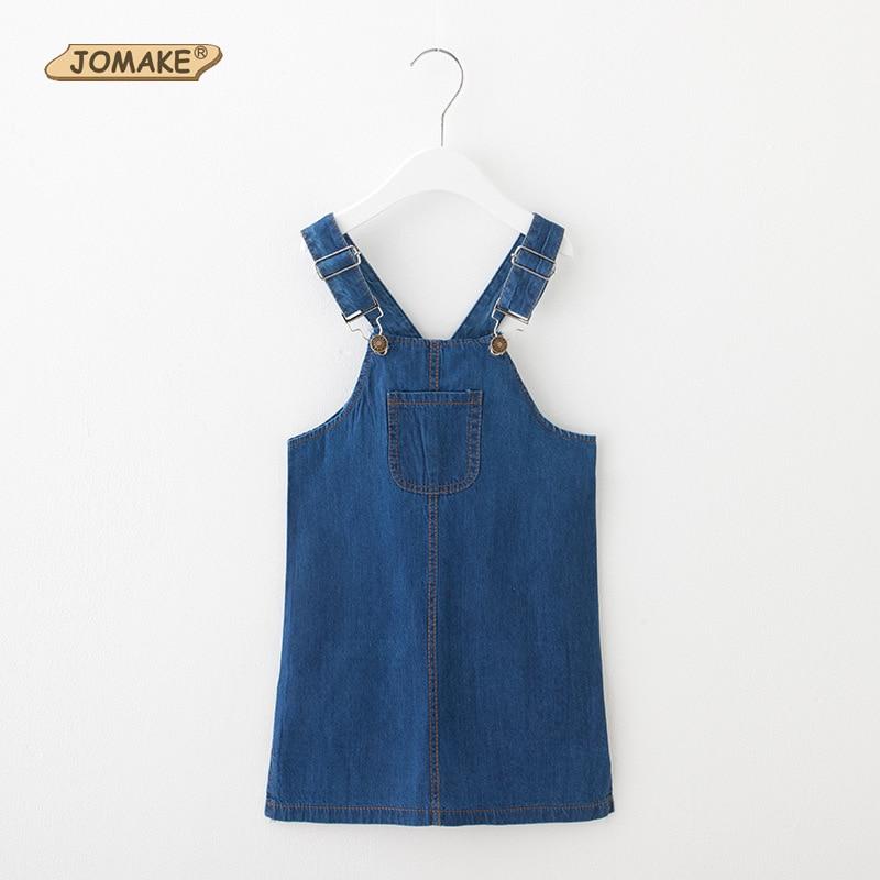 Summer Style Girl Cowboy Suspender Dress Girls Denim Strap Dress Jean Sundress Toddler Girl Clothing Costume For Kids Clothes
