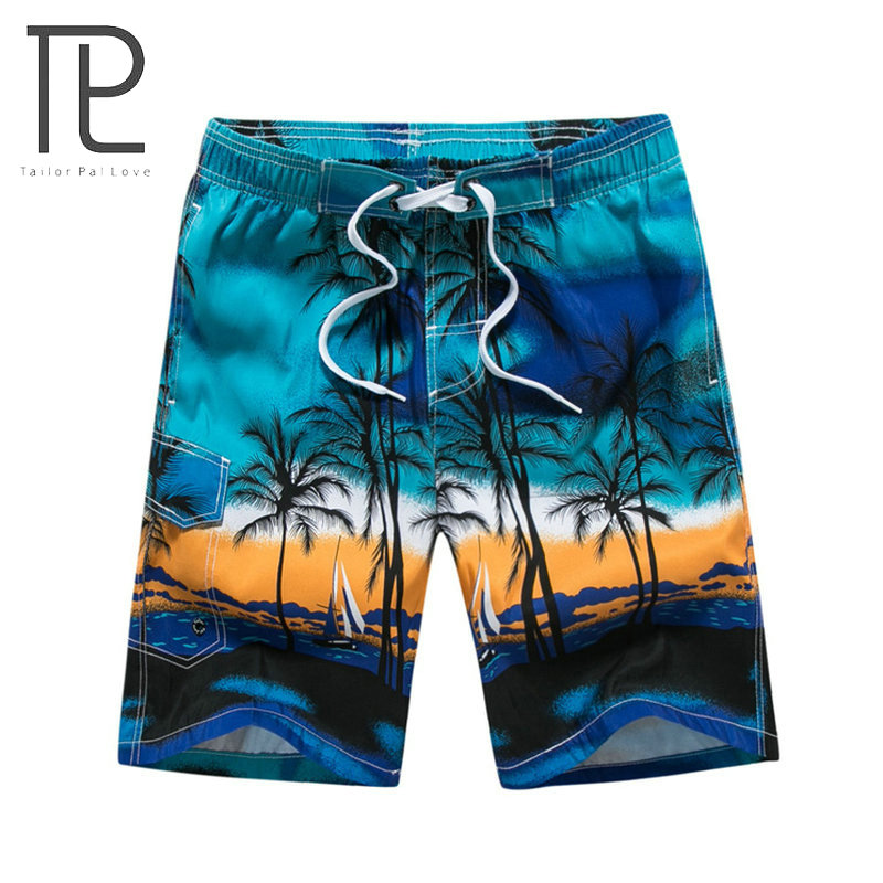 Tailor Pal Love Hot Selling Summer Shorts Men Beach Hawaii Printing Mens Board Shorts