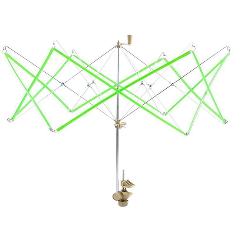 1 unid punto paraguas Swift lana hilo Winder mano-operar madejas línea Crochet herramienta del arte nave de la gota