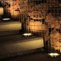 Солнечная наземная огни Открытый Сад Путь пейзаж газон подъездной дорожки диск фонарь для подземного освещения Водонепроницаемый лампа за...