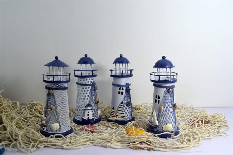comprar faro colorido mediterrneo adornos navideos un total de regalo de boda de decoracin del hogar moderno minimalista venta al por
