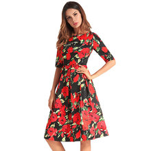 5a2863d0db Cross-border ladies source speed sell tong hot style amazon printed spring  summer 2018 women s dress Free Shipping