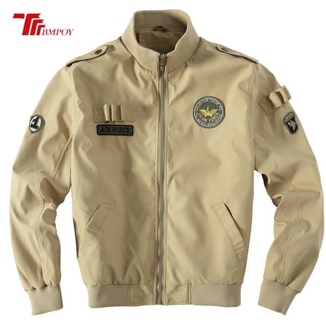 Mens Air Force Jackets Eagle Embroidery Pilot Jacket Usa Army