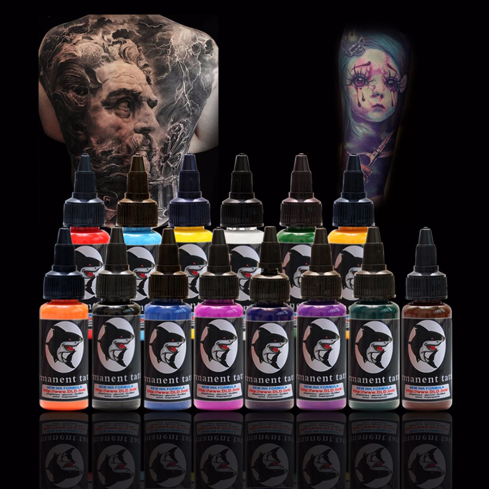 30ml/bottle Tattoo Ink Set Microblading Permanent Makeup Pigment 14 Colors Tattoo & Body Painting Ink for Tattoo
