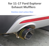 car Exhaust Mufflers for 13 17 Ford Explorer modified exhaust pipe muffler Pipe Tail accessories