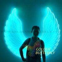 Led発光翼女性レディー天使の羽2017新しいファッションショー光る服スーツ