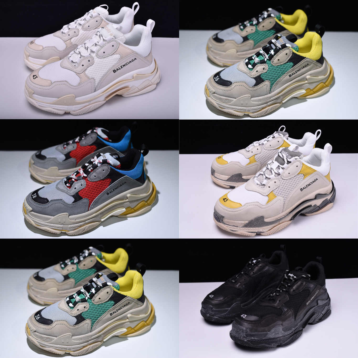New Balenciagas Triple S Trainers Rare Edition For Men Women Dad Shoes Sneakers Running Shoes Aliexpress