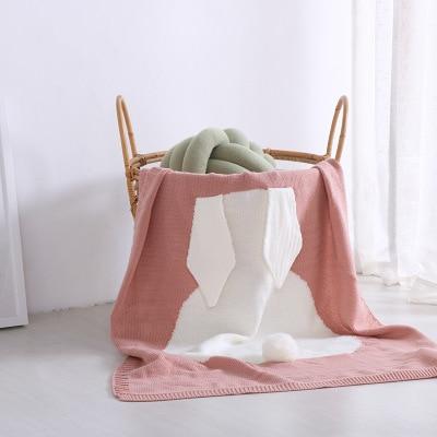 2018 New Cartoon Black White Pink Baby Blankets Rabbit Crochet Newborn Blanket Swaddle Kids Cotton Bedding Cover Appease