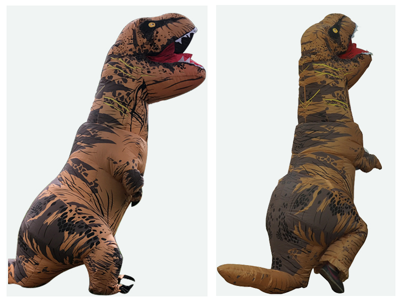 Adult T REX Costume Inflatable Dinosaur Party Costume Suit For Anime disfraces adultos costume Halloween Costumes for Women Men (11)