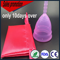 Sales promotion 10 days copa menstrual bag menstrual cup medical silicone for lady cup pass FDA silicone-menstrual-cup