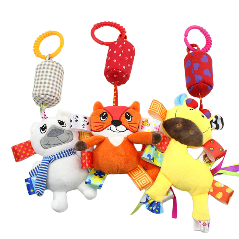 Newborn Infant Baby Toys Soft Mobile Bed Bell Tots Stroller Crib Hanging Rattles Musical Educational Toys Campanula Sound Gift