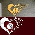DIY 3D Зеркало Стены Стикеры Любовь Шаблон Дома Современной Гостиной Спальня Декор Настенные Часы Зеркало Стены Стикеры Украшения Дома