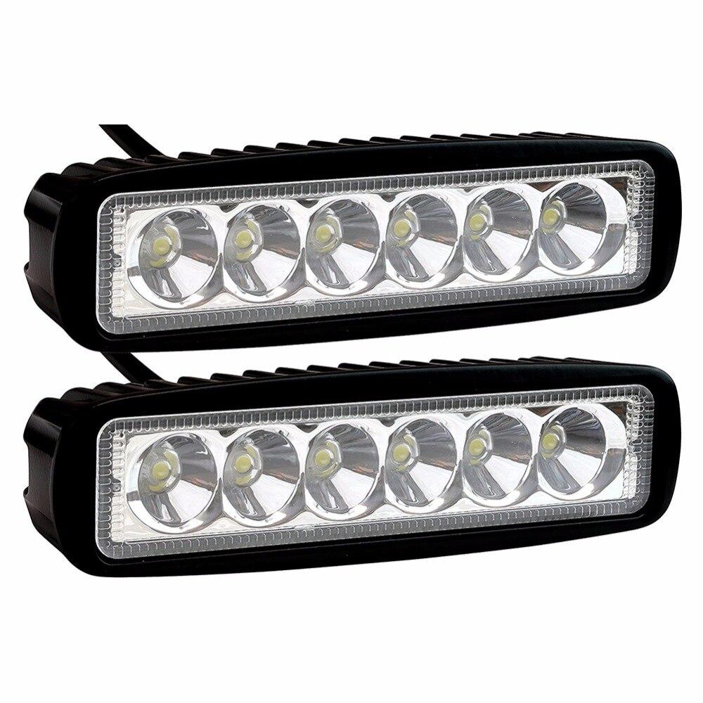 2pcs 12V/24V White Car Auto Truck LED Work Light Offroad Spot Light Bar ATV 4WD LED Day Time Running Lamp DRL For Jeep SUV SUVS