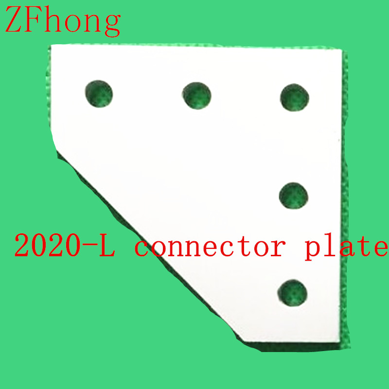 все цены на 5pcs 5 Hole 90 Degree Joint Board Plate Corner Angle Bracket Connection Joint Strip for Aluminum Profile 2020 20x20 with 5 holes онлайн