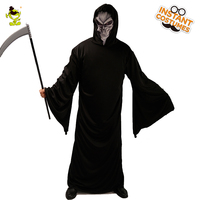 Man s Halloween Grim Reaper Costume Cosplay Purim party Adult Man Horror  Black Killer Halloween Cosplay Outfit acacc02ec