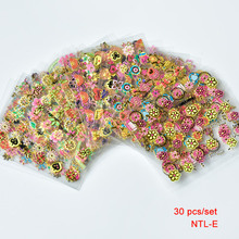 Wholesale - 30Pcs/Lot 3D Nail Art Sticker Set Mix Design Lace Gold Flower Acrylic Tip Decal Decoration Fashion New FREE SHIP