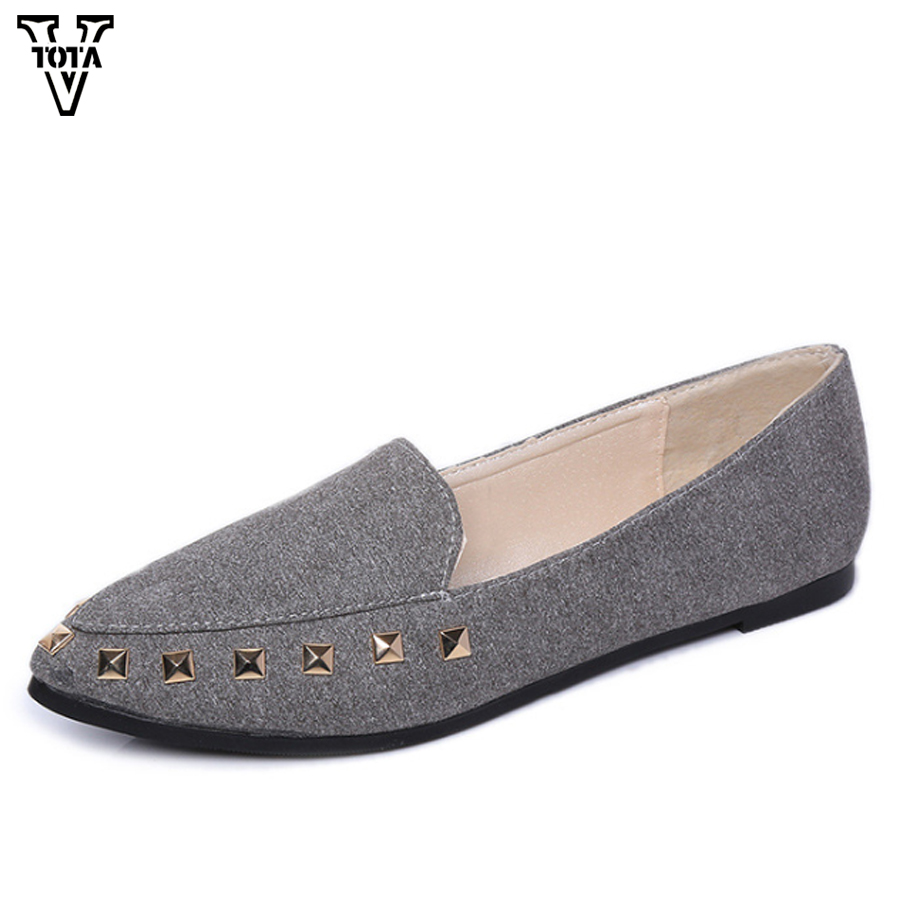 VTOTA Rivet Shoes Womon Flats Women Shoes Loafers Summer Fashion Woman Loafers Spring Autumn Casual Sapato Feminino YC west scarp mujer shoes fashion summer flats loafers women leather shoes daily casual woman shoes spring autumn sapato feminino