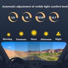 Автомобильная нано Керамическая Солнечная Тонирующая фотохромная оконная пленка, прозрачное видение в ночное время, ПЭТ умная пленка с размером 152x50 см/60 ''x 20''