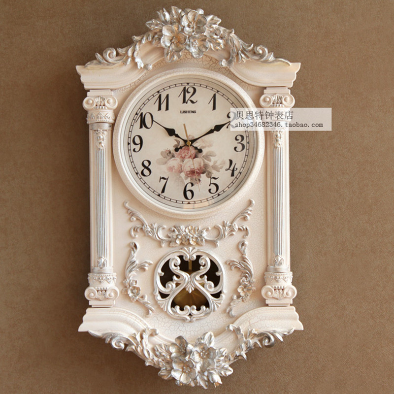 Europe type restoring ancient ways wall clock, creative pastoral sitting room wall clock, personality art mute quartz clock.Europe type restoring ancient ways wall clock, creative pastoral sitting room wall clock, personality art mute quartz clock.