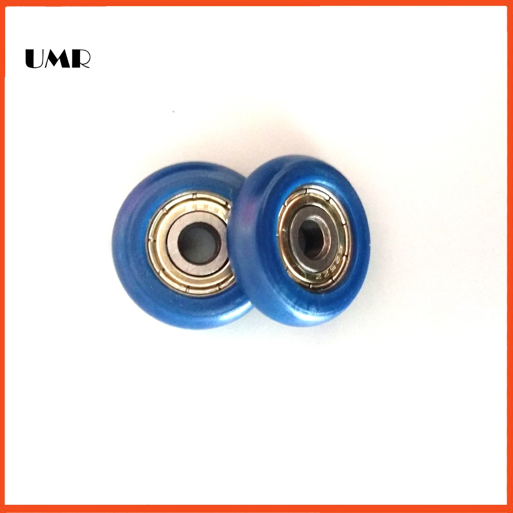 625ZZ BT0523 5 x23x 7mm Outer blue POM bread ball bearing nylon wheel hanging pulley wheel doors and windows 625zz bt0523 5 x23x 7mm outer blue pom bread ball bearing nylon wheel hanging pulley wheel doors and windows