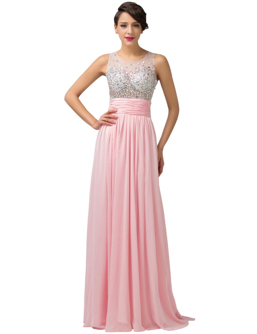 Aliexpress.com : Buy New Light pink evening dresses long 2016 Sexy ...