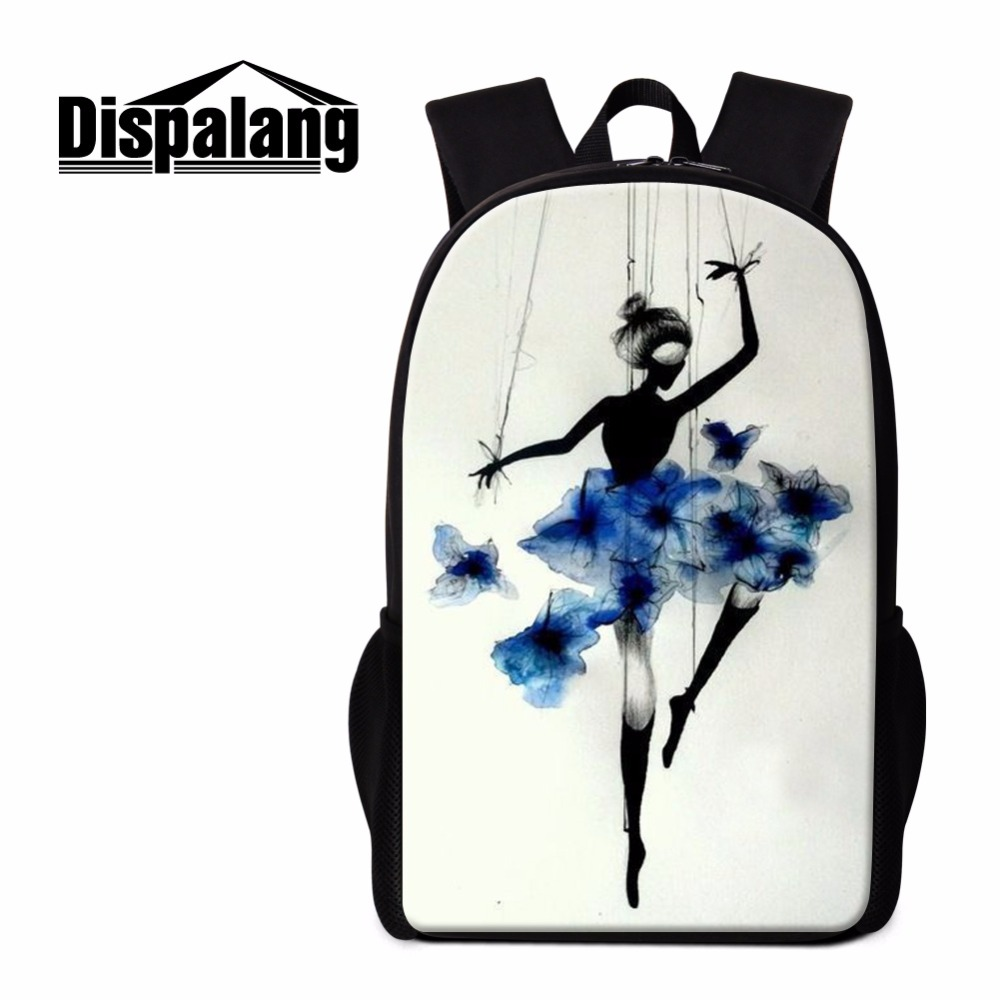 Dispalang New Design Ballerina Dancing Ballet Print Backpacks For Primary Students Lightweight School Back Pack Women Schoolbag ...