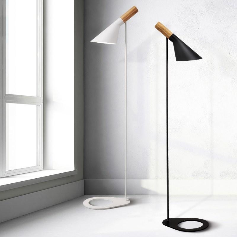 size 40 5d07f aa385 US $138.0 |Modern Post modern AJ Design Louis Arne Jacobsen Floor Lamp  Black/White Metal Stand Light for Living Room/Bedroom MING-in Floor Lamps  from ...