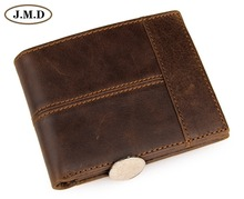 Free Shipping New Arrival High Quality Vintage Genuine Leather Wallet For Men Purse # 8064B цена