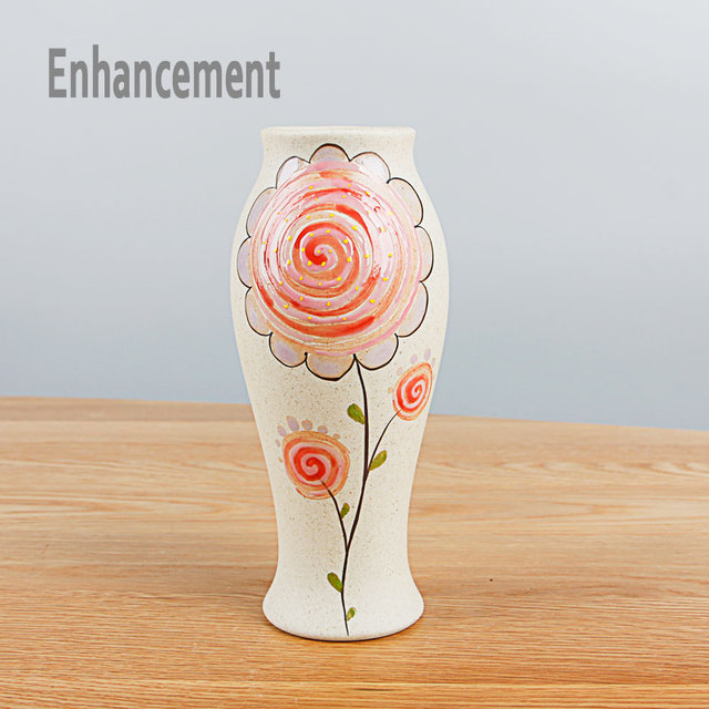 New Jingdezhen Ceramic Handpainted Flower Vase Flower Hydroponic