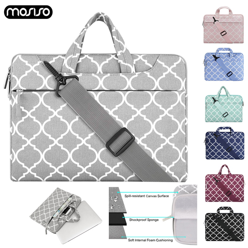 MOSISO Canvas Bag Laptop Briefcase Travel Notebook Messenger Shoulder Bag Business Handbag For Macbook Air Pro Dell HP Lenovo in Laptop Bags Cases from Computer Office