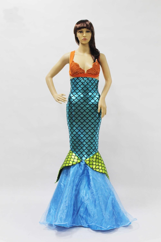 Jualan Hot Wanita Mermaid Kostum Halloween Cosplay Mermaid Pakaian - Kostum karnival - Foto 6