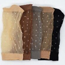 10 пара/лот прозрачные тонкие женские прозрачные шелковые носки в горошек нейлоновые Модные женские летние короткие шелковые носки до щиколотки