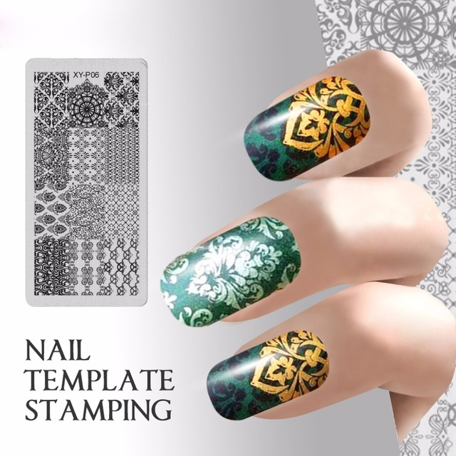 New Diy Plate Nail Art Templates Lace Flower Nail Stamping Plates