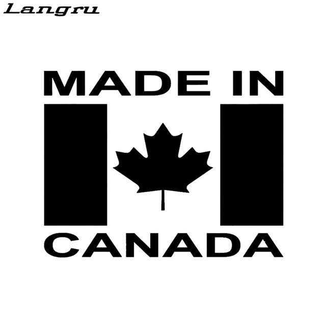 Langru made in canada art lettering maple leaf flag car sticker van window bumper car decor