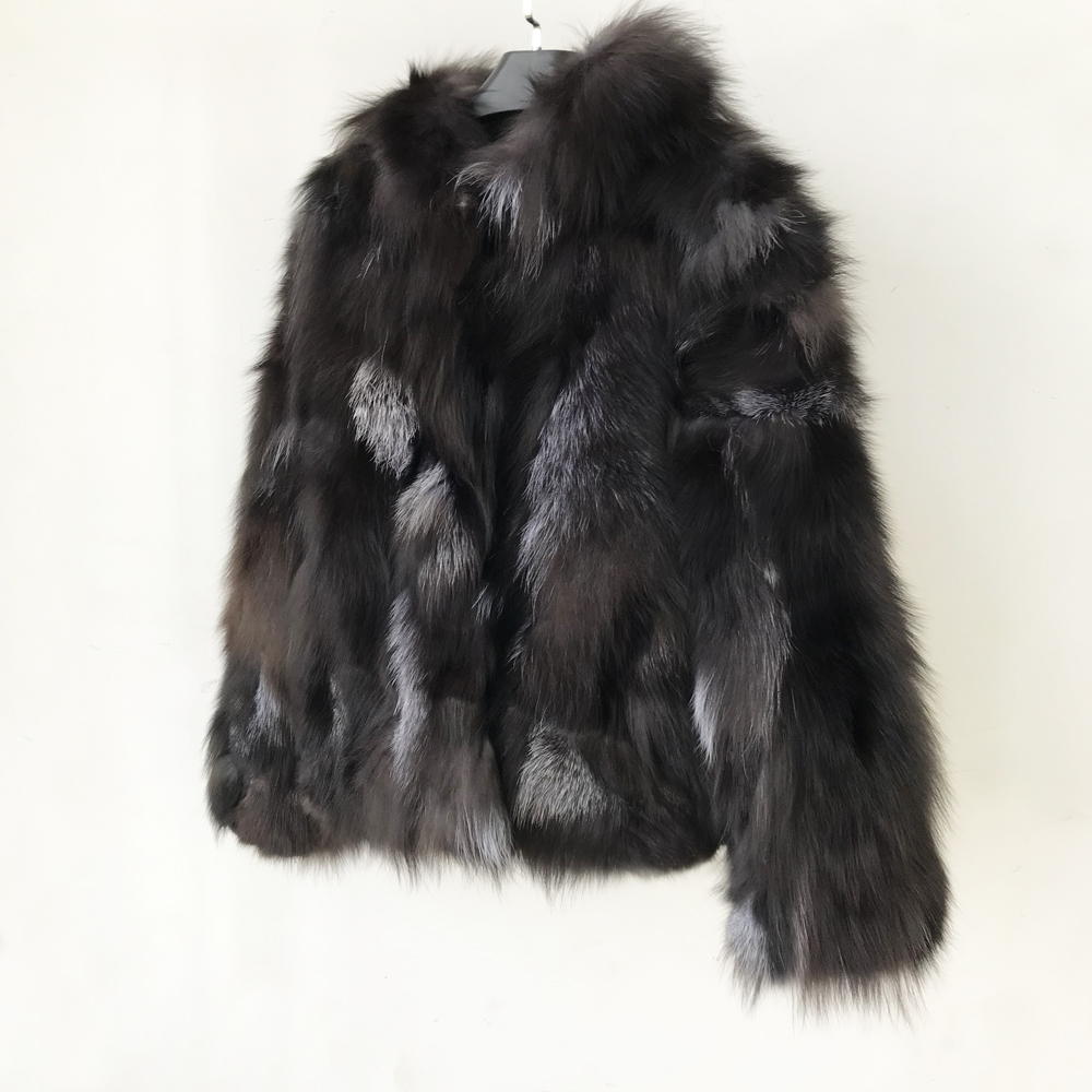 2019 Real Fur Coat Genuine 100 Fox Fur Jacket with Hood Women New Clothes Wholesale Retail
