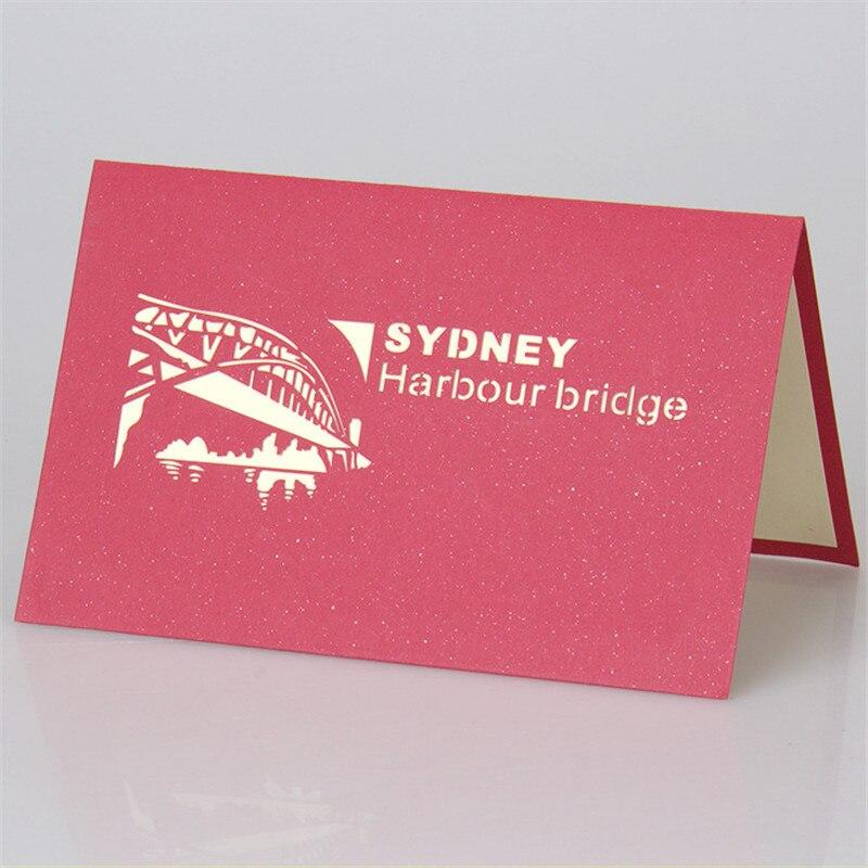 Super 3D scultura di carta biglietti di auguri fatti a mano Sydney Ponte  EA12
