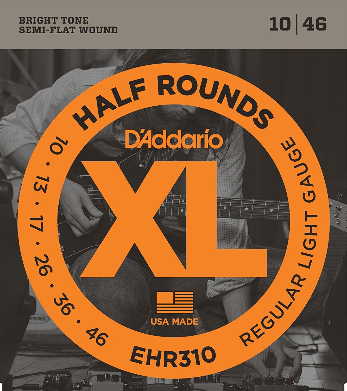 D'Addario EHR310 Half Round Electric Guitar Strings, Regular Light, 10-46 savarez 510 cantiga series alliance cantiga normal high tension classical guitar strings full set 510arj