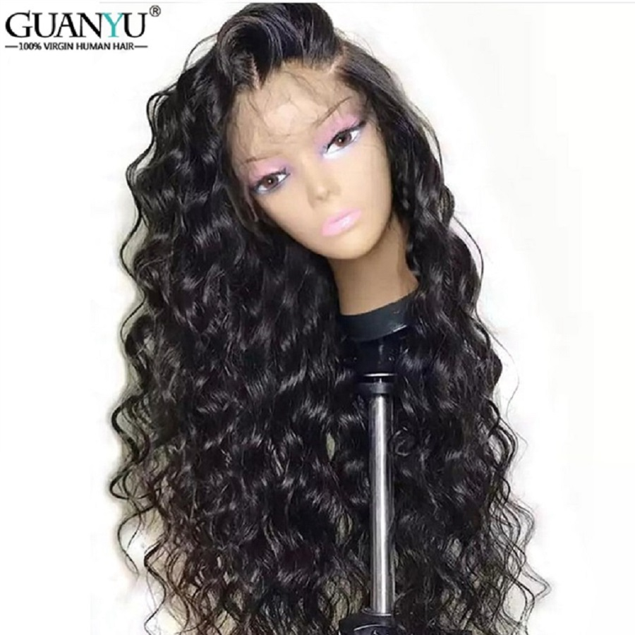 Deep Curly Lace Wig Brazilian Remy Lace Front Wigs For Black Women 100% Human Hair Lace Front Wigs With Baby Hair Pre Plucked