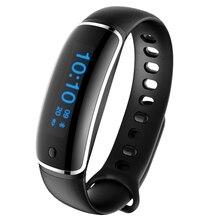 V8 0.87 дюймов OLED touch ключ SmartBand IP67 Водонепроницаемый Bluetooth 4.0 IP67 Водонепроницаемый Умные браслеты шагомер Приборы для измерения артериального давления