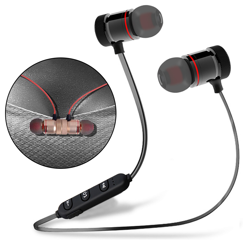 Headset Magnet Sport Bluetooth Super Bass Fitness Moreblue K07 Earphones Wireless Headphones Magnetic Metal Hifi Monitor Earbuds With Hd Mic In